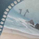 """Alentejo, evening at the beach"" Olio su lino, cm 90x90, 2017 - 3.600 €"