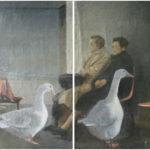 """End of Waiting Time"" Olio su juta, cm 87x120 dittico, 2010 - 4.400 €"