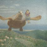 """Flying Turtle"" Olio su juta, cm 100x120, 2013 3.600 €"