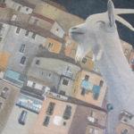 """""""The Goat"""" Olio su juta, cm 100x90, 2016 - 2.600 €"""