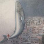 """""""The Whale"""" Olio su juta, cm 100x100, 2013 - 3.600 €"""