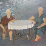 """""""Under Water"""" Olio su juta, cm 85 x 67, 2013 - 2.600 €"""