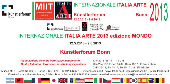invito Internazionale Italia Arte 2013 edizione MONDO BONN OKKKK