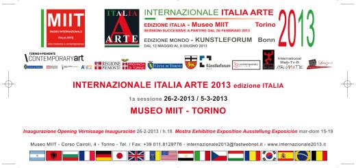 invito Internazionale Italia Arte 2013 edizione italia:Layout 1.