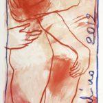"""""""Forse"""" Pastelli ad olio e acrilici su tela, cm 78x205, 2012"""