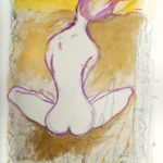 """""""E' ad Est che devi guardare"""" Pastelli ad olio e acrilici su tela, cm 143x205, 2014"""