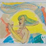 """""""La vita è bella N. 4"""" Pastelli ad olio e acrilici su tela, cm 106x93, 2011"""