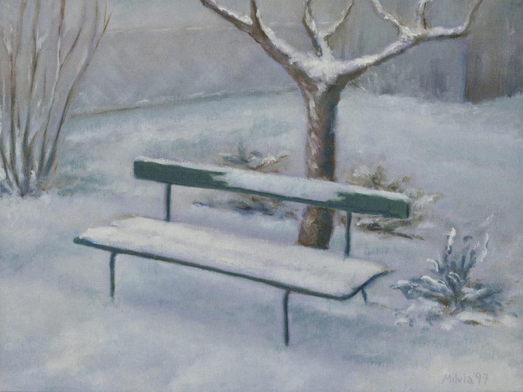 04 - la panchina verde 30x40 -1997