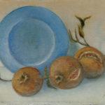 """""""Il piatto azzurro"""", olio su cartone telato, cm 19x29, 2012 450 €"""
