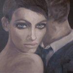 """""""Ballo coi lupi"""", olio su tela, cm 40x40, 2011   900 €"""