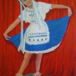 """La ballerina"", acrilico su tela, cm 60x80, 2017"