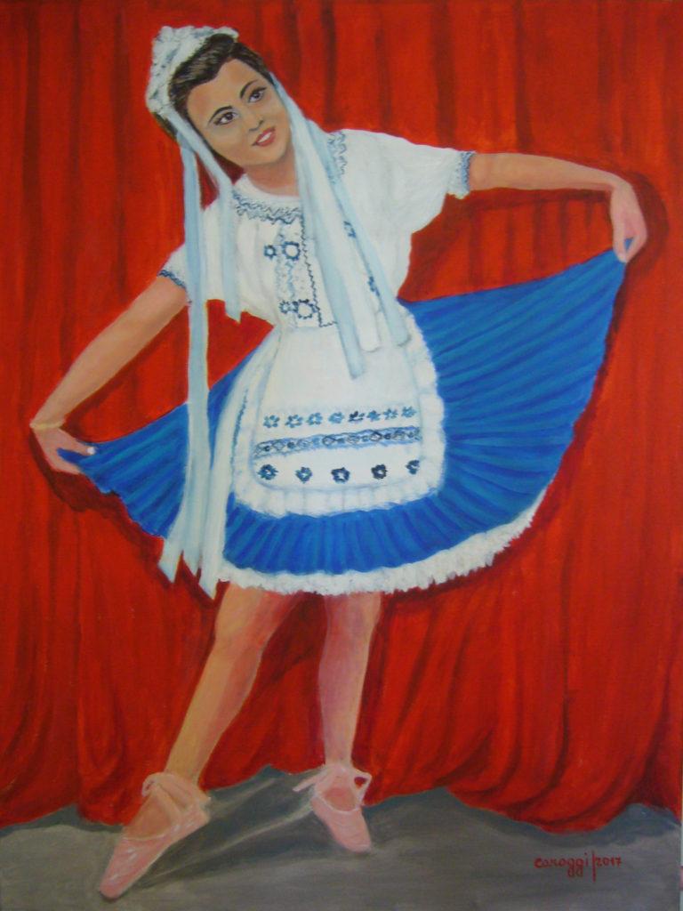 1. La ballerina [2017] , acrilico su tela 60x80h cm, 2017