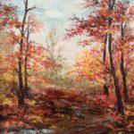 """""""Paesaggio. Luci d'autunno"""", olio su tavola, cm 35x50 800 €"""