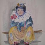 """""""Piccolo clown"""", acquerello su carta, cm 45,5x30,5, 2010 350 €"""
