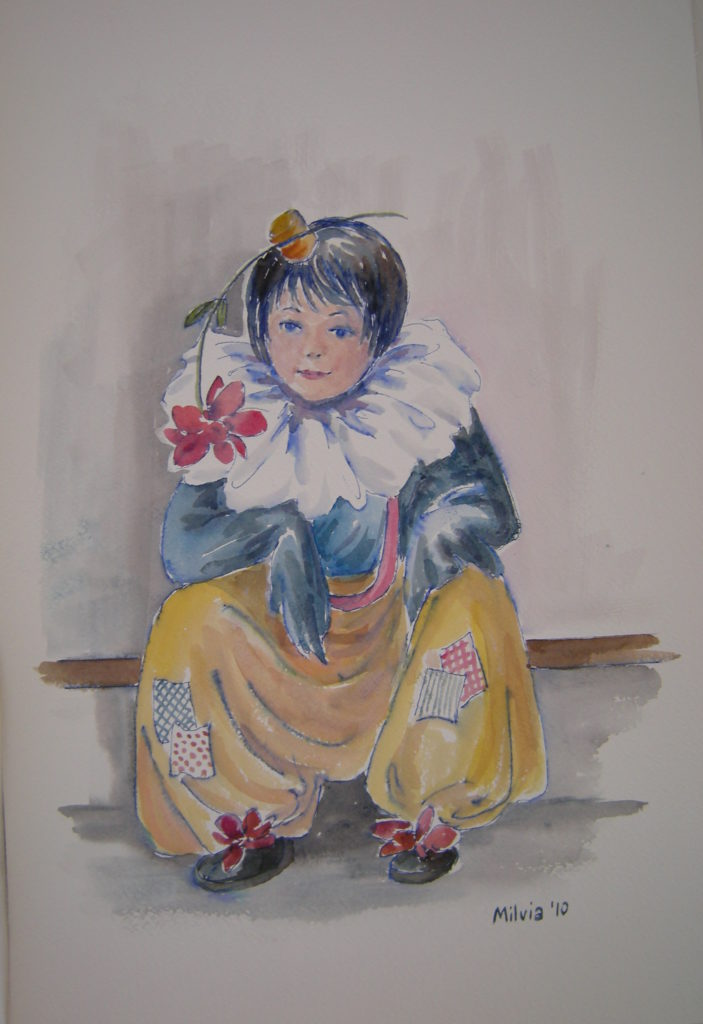 10 - piccolo clow - cm. 45,5x30,5 - 2010