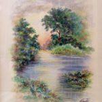 """""""Tramonto d'estate"""", acquerello su carta, cm 25x35 600 €"""
