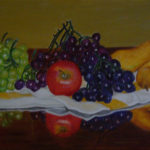 """Frutta su telo"", acrilico su tela, cm 80x40, 2015"