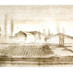 """""""Mattino di fine inverno"""", cera molle su rame, mm198x298 (lastra), cm 35x50 (foglio), 2009 200 €"""