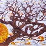 """""""La culla del sole"""", inchiostri, cm 150x70, 2016"""
