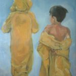 """Brothers"", olio su tela, cm 30x40, 2011   1.000"