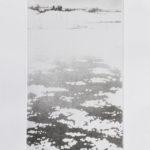 """""""Neve sull'acqua"""", acquaforte e acquatinta su rame, mm 350x200 (lastra), cm 50x35 (foglio), 2010 275 €"""