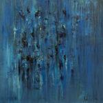 """Sensazioni"", olio su tela, cm 100x100, 2017 1.800 €"
