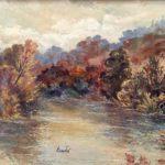 """""""Magico autunno"""", olio su tavola, cm 30x40 (opera catalogata)  2.500 €"""