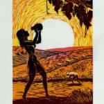"""""""De aestate"""", xilografia a colori - tre matrici mm 350x250 (matrici), cm 50x35 (foglio), 1994 150 €"""
