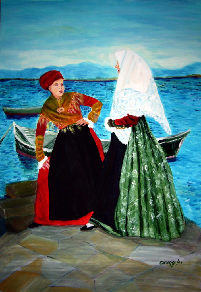 15. Costumi di Sant'Antioco, acrilico su tela 80x100h cm, 2016