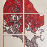 """Finestra"", inchiostri, cm  70x100, 2014"