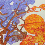 """""""Profumo di lavanda"""", inchiostri, cm 100x70, 2016"""