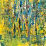 """Tavolozza di riflessi"", olio su tela, cm 100x100, 2017 2.000 €"