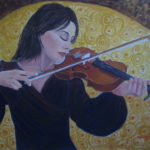"""""""La Violinista"""", acrilico su tela, cm 80x60, 2017"""