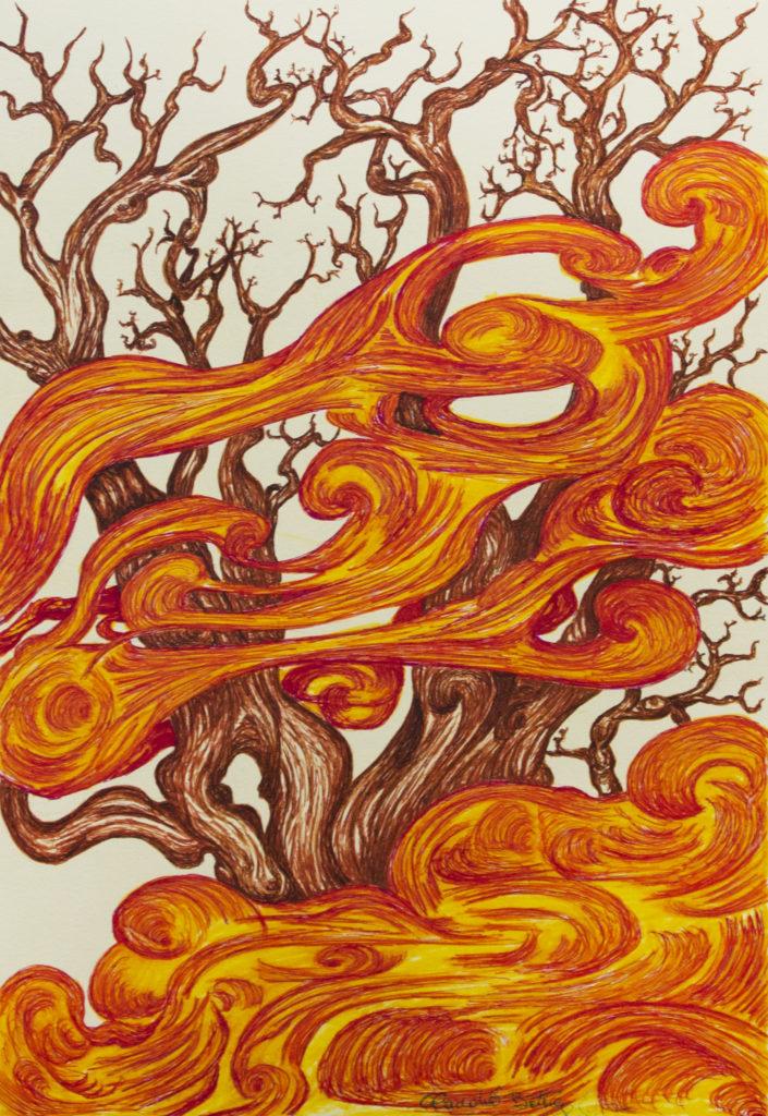 20. Bruciato dal sole, 25x35 (2017)