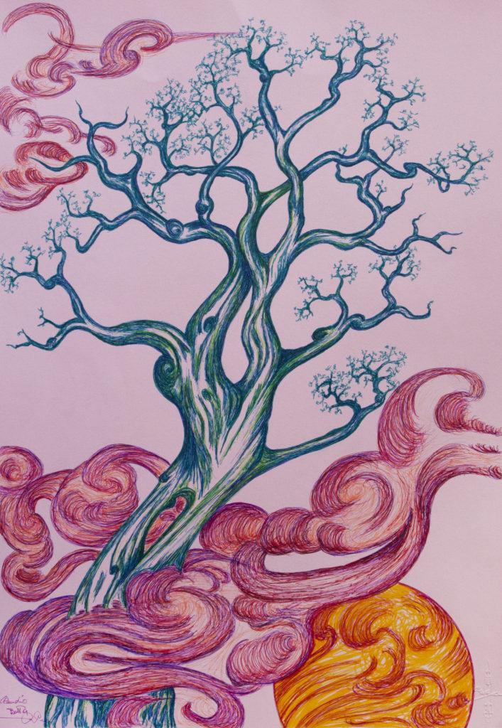 21. L'albero azzurro, 35x50 (2017)