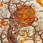 """La pace assoluta"", inchiostri, cm 35x50, 2017"