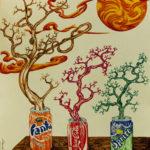 """Ovunque c'è vita"", inchiostri, cm  35x50, 2017"