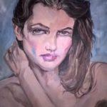 """""""In blu"""", olio su pannello telato, cm 40x50, 2015   1.200 €"""
