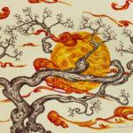"""""""Avvolto dal ramo"""", inchiostri, cm 50x35, 2017"""