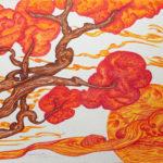 """!Un ramo nel cuore"""", inchiostri, cm 50x70, 2015"""