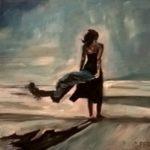 """In my loneliness"", olio su panno telato, cm 30x40, 2016   1.200 €"