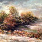 """""""Luci d'autunno"""" (collezione dell'autore), olio su tavola, cm 60x45 1.200 € mia collezione-1985- €1200,00"""