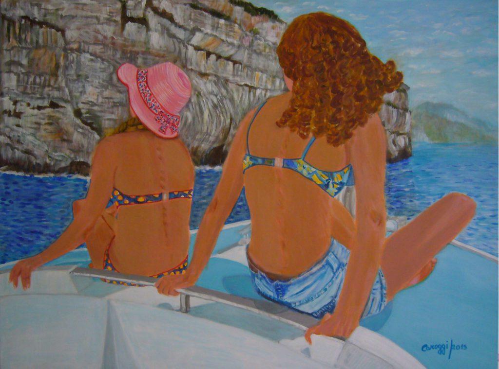 4. Gita in barca, acrilico su tela gallery 80x60h cm, 2015
