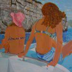"""Gita in barca"", acrilico su tela gallery, cm 80x60, 2015"