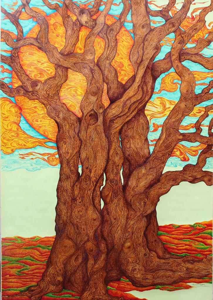 4. Una grande quercia, 140x200 (2016)