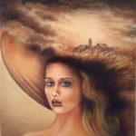 """""""Ricordi... ritratto di Flora"""", olio su tela, cm 50x70, 1982 2.500 €"""