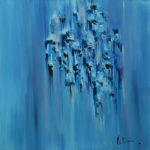 """""""Oltre i riflessi"""", olio su tela, cm 100x100, 2016 1.800 €"""