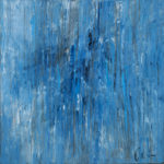 """""""Oltre l'azzurro"""", olio su tela, cm 100x100, 2017 1.800 €"""