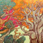 """""""Armonia dei colori"""", inchiostri, cm 120x80, 2015"""