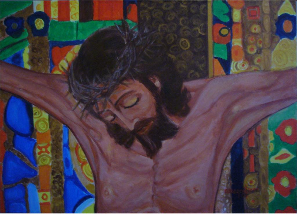 6. Il Cristo, acrilico su tela gallery 70x50h cm, 2017